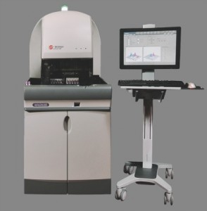 The UniCel DxH 800 Coulter cellular analysis system for mid- to high-volume labs features advanced technologies, including high-definition signal processing and multi-angle light scatter technology, producing 10 times more data than traditional hematology analyzers.