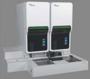 The Sysmex XN-2000 automated hematology analyzer is an integrated co-primary hematology system with two analytical modules capable of processing 200 samples per hour. Its compact design delivers a smaller footprint for increased physical productivity.