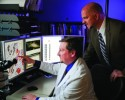 Jeff Prichard, MD (left), and Cernostics CEO Mike Hoerres at Geisinger Medical Center.